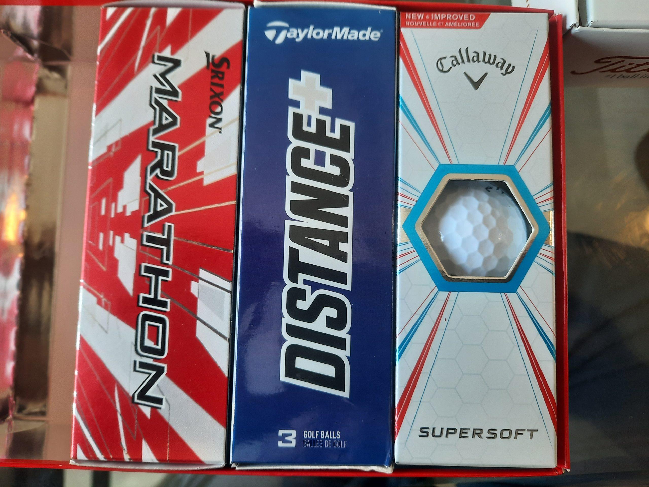 Golf balls 5 different  sleeves