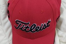 NEW Titleist Tour Fitted Golf Hat / Cap by New Era Red / Black Medium-Large