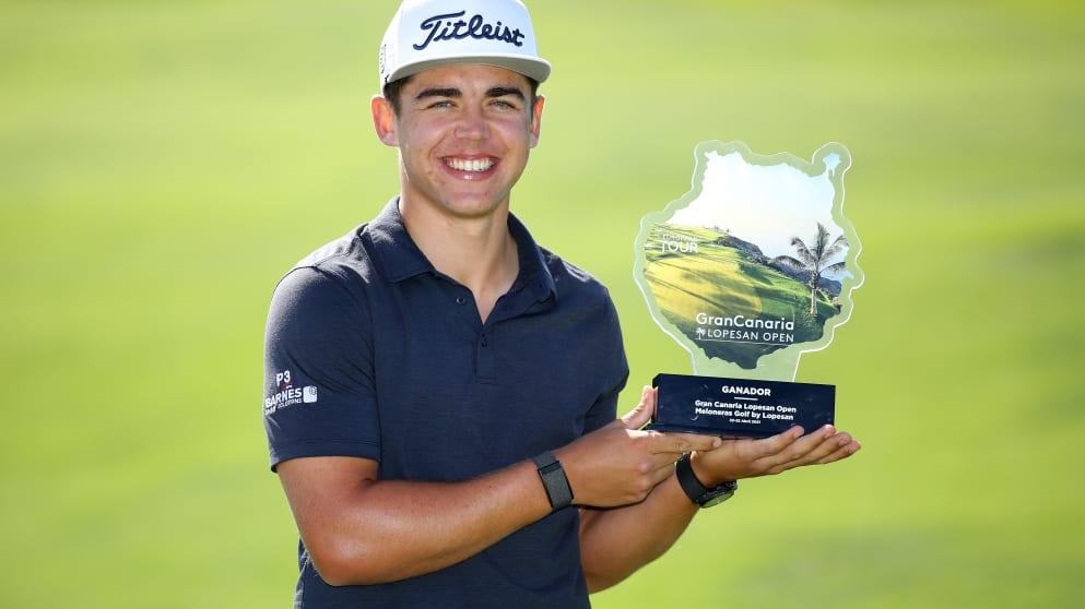 21-year-old Garrick Higgo win his second European Tour title at the 2021 Gran Canaria Lopesan Open.
