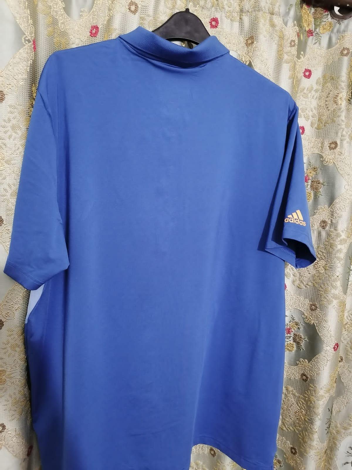 Adidas Men's Golf Shirt – Blue/White