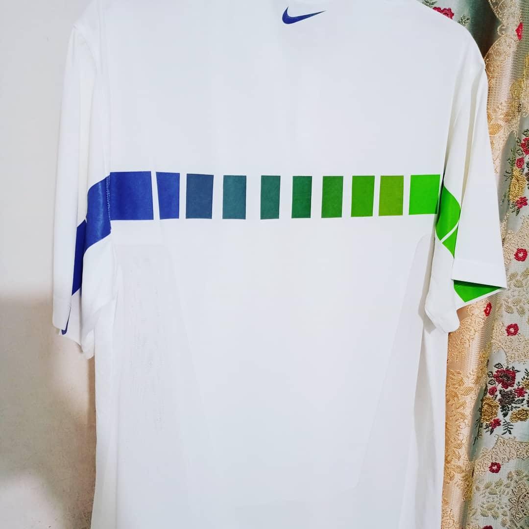 Nike Golf Shirt – Green/Blue