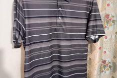 PGA Tour Golf Shirt – Grey Stripes
