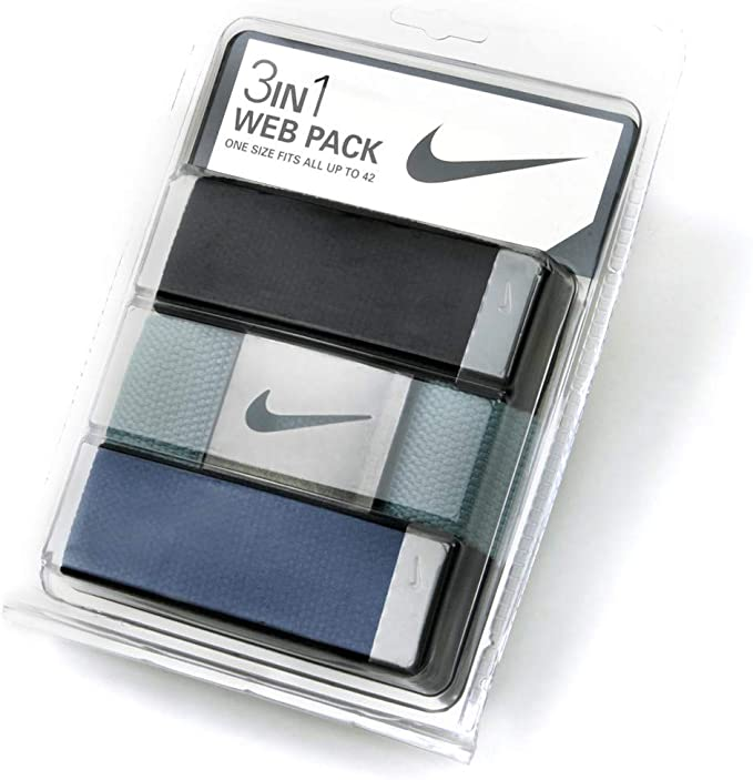 Nike Golf Men's 3-in-1 Web One-Size-Fits-Most Belts